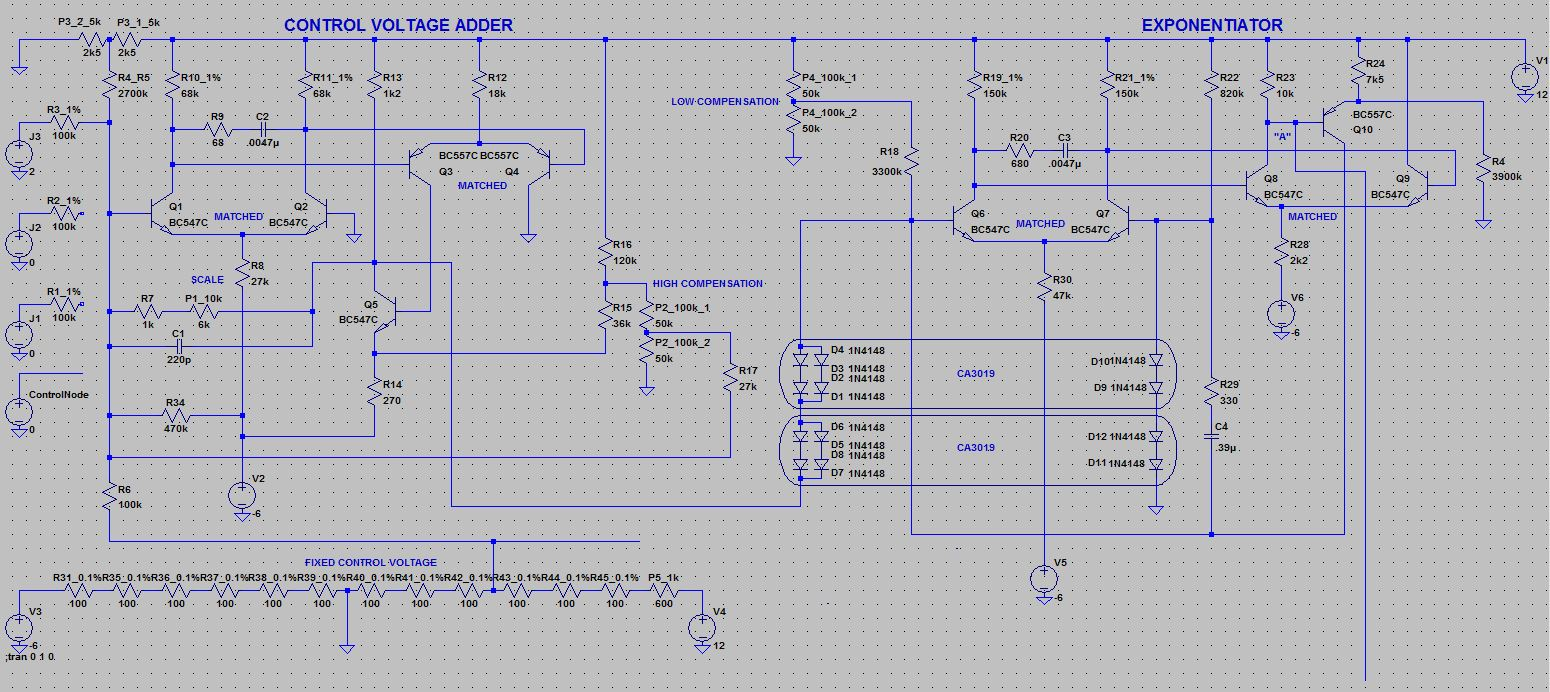 Moog Modular Clone Project Schematics Envelope Schematic T901a Voltage Controlled Oscillator Controller