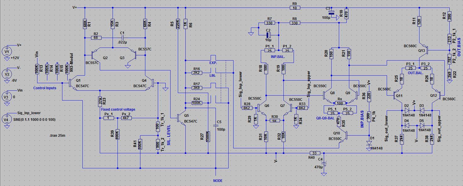 Moog Modular Clone Project Schematics Vco Circuit Diagram T901a Voltage Controlled Oscillator Controller Schematic T901b