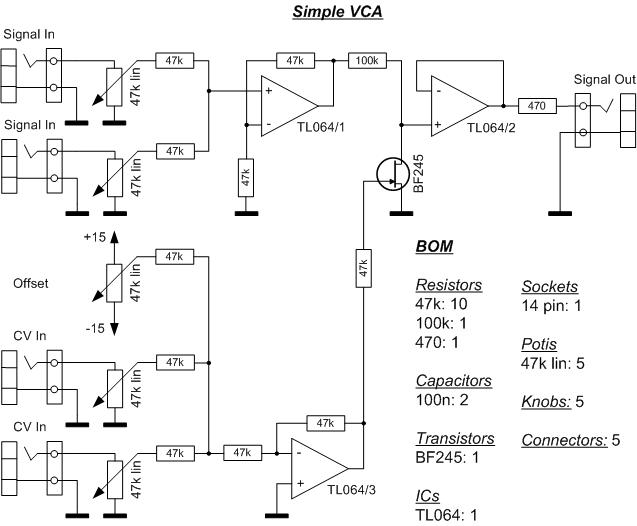 Simple VCA on